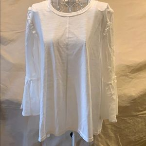 NWT Loveriche brand ivory top size Large